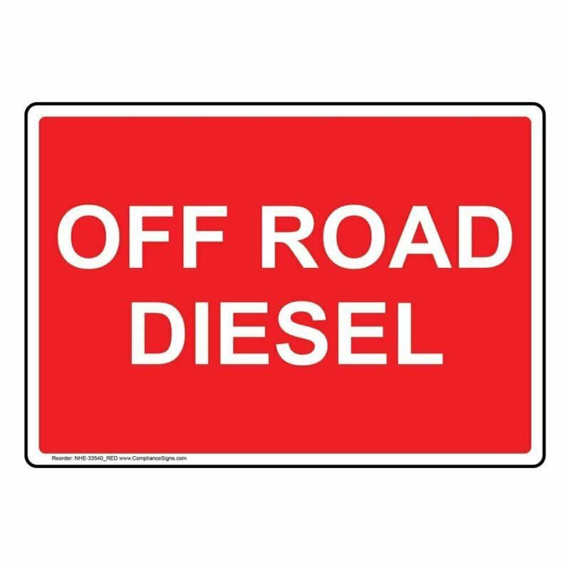 Off Road Diesel Label Decal, 7x5 inch Vinyl for Fuel by ComplianceSigns