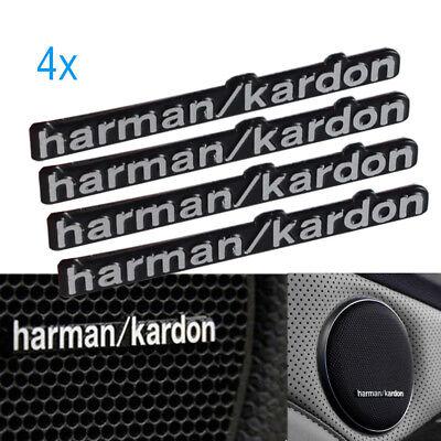 4x Harman Kardon Badge Logo Sports  Car Audio Speaker Stickers BMW All Series