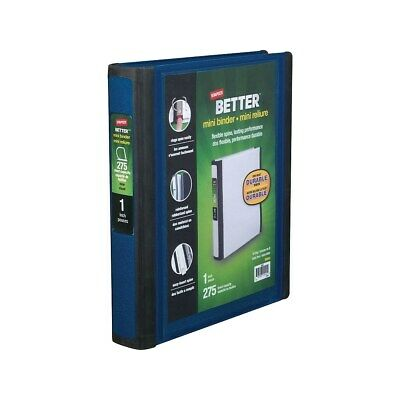 Staples Better Mini 1-Inch D 3-Ring View Binder Blue  924443