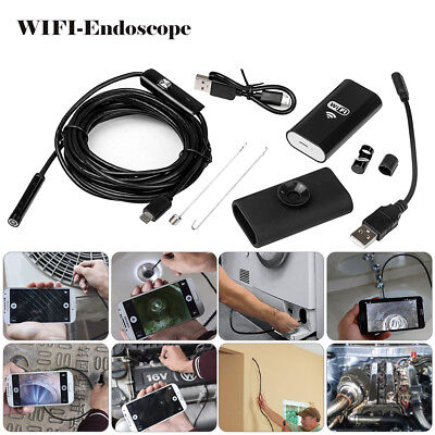 HD Waterproof WiFi Endoscope Inspection 6 LED Camera fits Phone Android PC