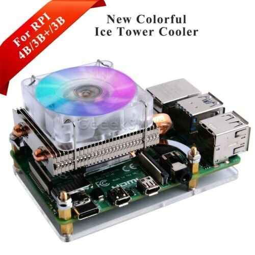 Low-Profile ICE Tower Cooling Fan ICE Tower Cooler for Raspberry Pi 4/3B+/3B