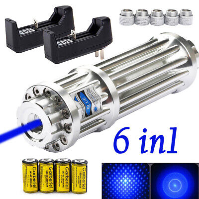 High Power Military 450nm 1mw Blue Laser Pointer Pen Visible Beam Lightbattery
