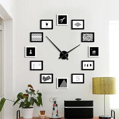 Wall Clock Modern 12 Photo Picture DIY Clock Love Family Home Inn Mount Decor