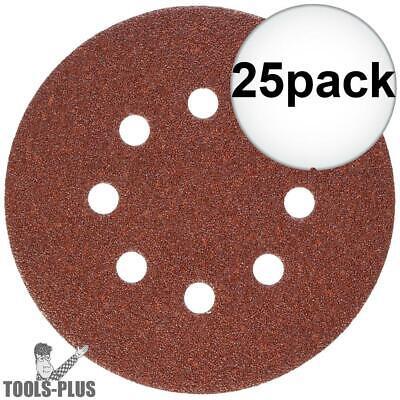 25pk 60 Grit 5 Hook Loop Sanding Discs Porter-cable 735800625 New