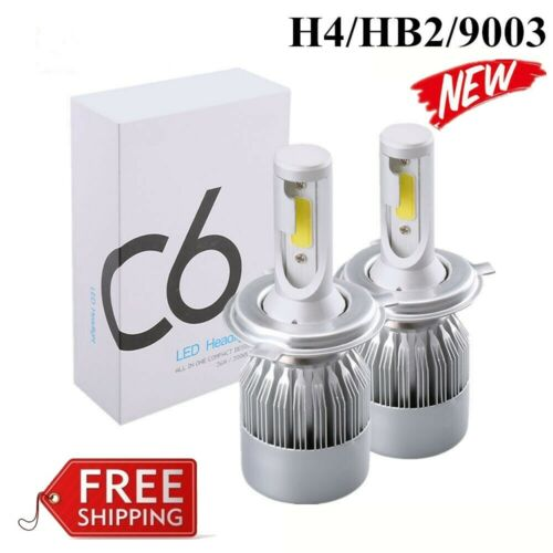 2pcs H4 LED Headlight Bulbs Conversion Kit 1200W 180000LM 6000K Hi/Lo beam Lamps Car & Truck Parts