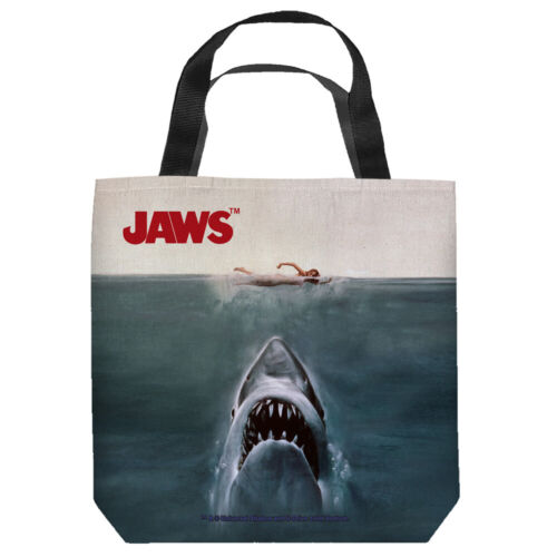 """Jaws """"Poster"""" 16 in x 16 in Tote Bag - New"""