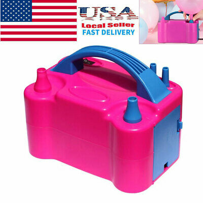 Portable Double Electric Balloon Air Pump Inflator 110V Blower Party US Plug](Inflatable Parties)