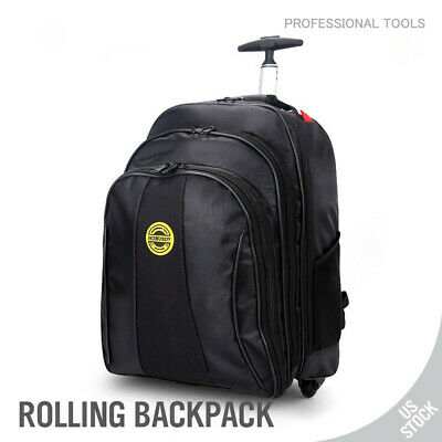 Trolley Luggage Bag Backpack Travel Laptop Roller Wheel Wide straps 20inch Large (Backpack Luggage Trolley Bag)