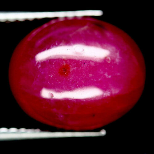 8.57 CT. NATURAL PINK RUBY GLASS FILLED MADAGASCAR OVAL CABOCHON