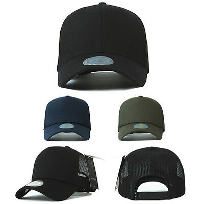 XL~2XL XXL 60~63Cm Unisex Mens Plain Summer Mesh Blank Baseball Cap Trucker Hats Blank Trucker Hats