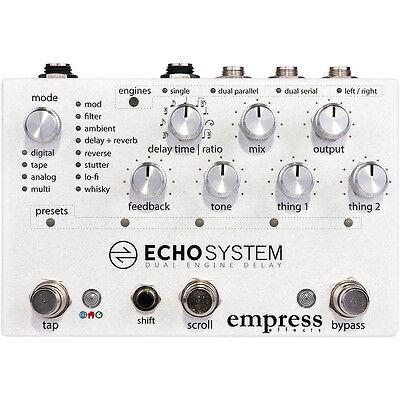 Empress Effects Echosystem Dual Engine Digital Delay Reverb Guitar Effects Pedal