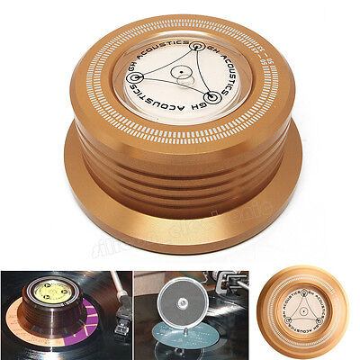 3-in-1 Record Clamp LP Disc Stabilizer Turntable Vibration Balanced golden
