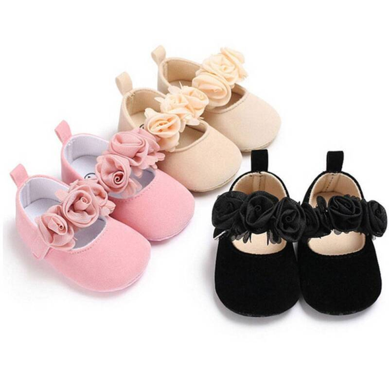 Girls Anti-slip Baby Soft Sole Pram Baby Shoes Sneakers Dance Shoes Crib Shoes