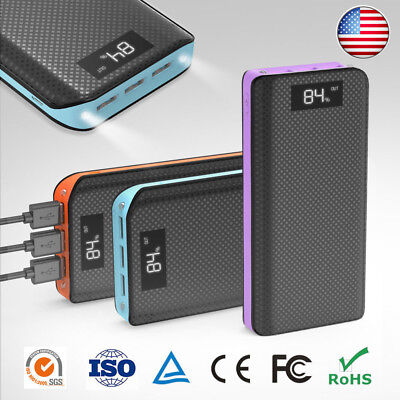 Portable 300000mAh Power Bank Backup External USB Battery Charger for Cell Phone