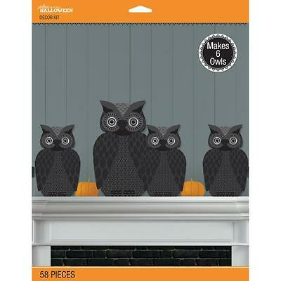 Making Paper Halloween Decorations (Crafts Jolee's Halloween Decor Kit 3D Makes 6 Owls Black Decorations)