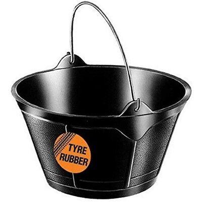 Rubber Feed Tub - Tub Trugs Tyre Rubber Feed Flexible Tub One Size Black - Bucket B4 Faulks Co