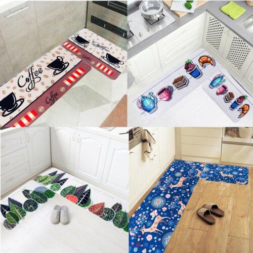 Home Kitchen Carpet Absorbent Slip-resistant Doormats Area R