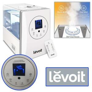 Used Levoit Humidifiers Vaporizer, Warm and Cool Mist Ultrasonic Air Bedroom Humidifier with Remote, 6L Capacity for ...