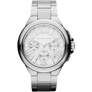 New Michael Kors Silver Dial Stainless Steel Chrono MK5719 Women's Camille Watch