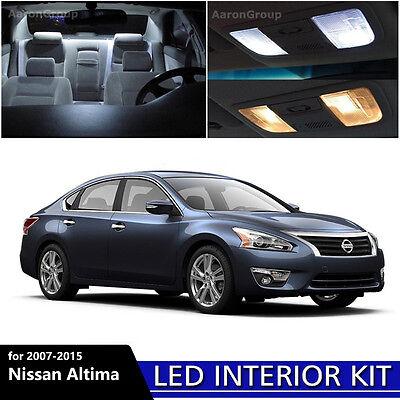 12PCS White Interior LED Light Package Kit for 2007-2015 Nissan -