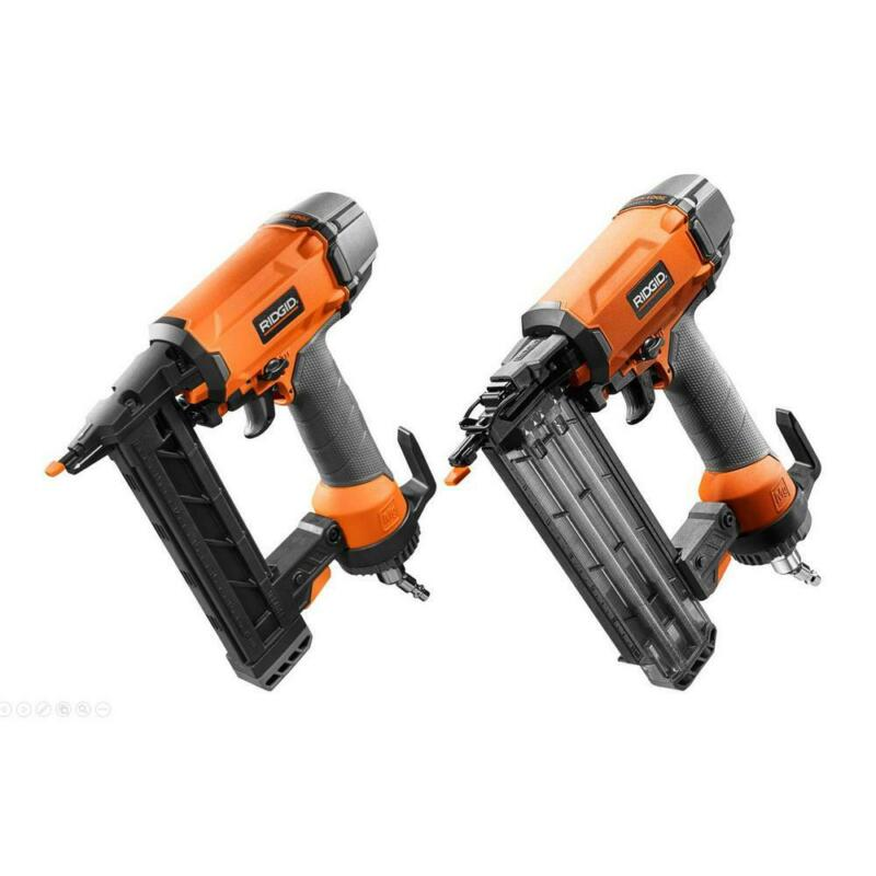 Ridgid Finish Stapler and Brad Nailer Kit Powerful Motor Adj
