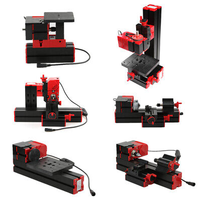 6 In 1 Mini Metal Motorized Lathe Milling Drilling Sanding Machine Diy Wood Tool