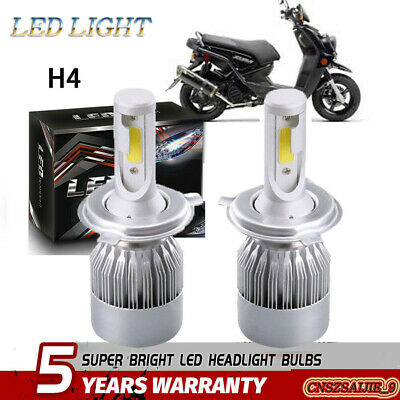 H4 LED Headlight Bulb Kit white Hi/Low Beam For 2009-2015 Yamaha YW125 Zuma 125