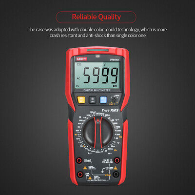 Uni-t Digital Multimeter 6000 Counts True Rms Acdc Frequency Diode Tester C2j1