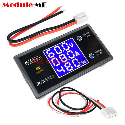 Dc 50100v 5a10a Lcd Display Digital Voltmeter Wattmeter Current Power Tester