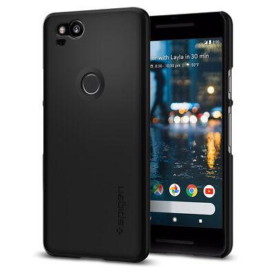 Spigen  Google Pixel 2  Thin Fit  Black Sf Coated Non Slip Matte Surface Pc Case