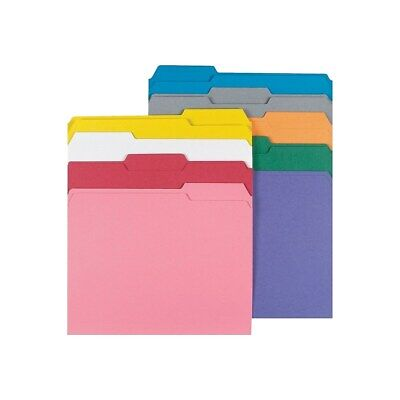 Staples Colored File Folders W Reinforced Tabs Letter 3 Tab 100box 508994