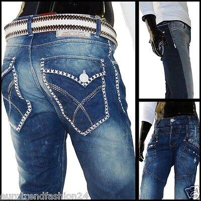 Herren Jeans Hosen Clubwear Zeitlose Desing Style Hose Jungs W29-W38 Neu  Lose Jean Hose