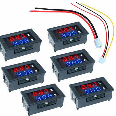Mini Dc 100v 10a Digital Voltmeter Ammeter Blue Red Led Volt Amp Meter Gauge 6pc