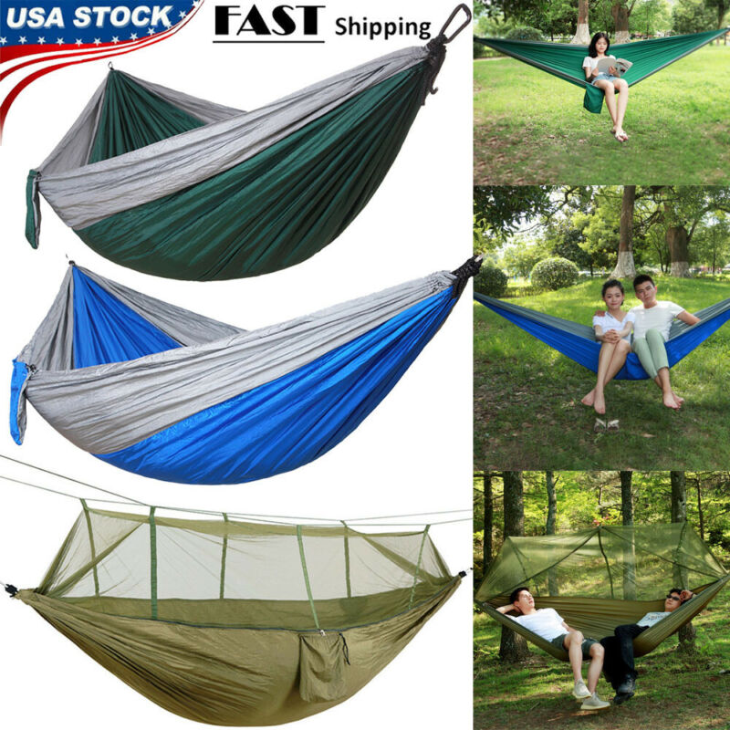 Parachute Portable Hammock - Hammock With Mosquito Net - Cam