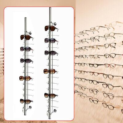 121418 Frames Lockable Sunglasses Glasses Eyeglasses Display Rod 10 Pcs Silver