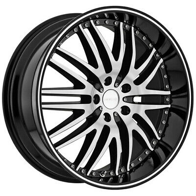 """4-Menzari Z04 M Sport 22x8.5 5x4.5"""" +35mm Black/Machined Wheels Rims 22"""" Inch"""