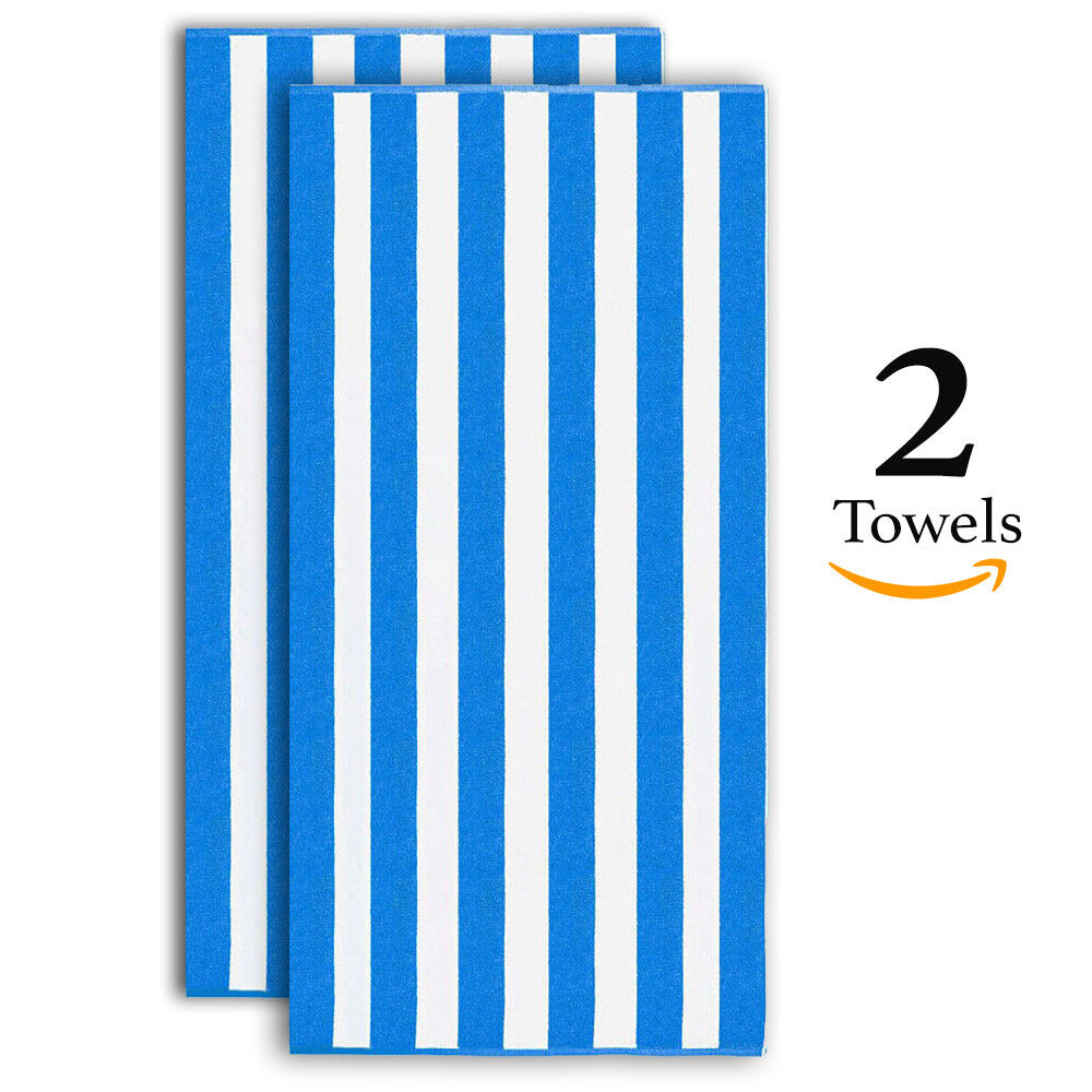 "Oversized Beach Towel 30""x60"" Ultra Plush Absorbent Cotton N"