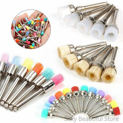 100 Pcs Dental Nylon Prophy Polishing Brush Colorful Nylon Latch Polisher Cups