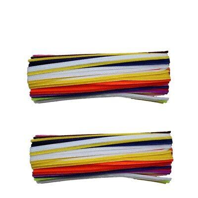 Schwarze Pfeifenreiniger (Pfeifenreiniger 300 Stück Bunt Schwarz Basteln Putzer Set Biege-Chenille-Draht )