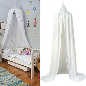 Prince Princess Reading Play Tents Canopy Bed Cotton Mosquito Baby Kids White US