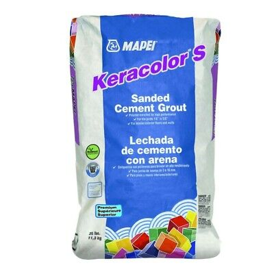 New Mapei Keracolor 25-lb Charcoal Sanded Grout w/ Polymer, Premium Powder