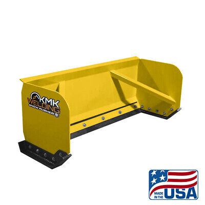 6 Yellow Skid Steer Snow Pusher Boxbobcatkubotaquick Attachfree Shipping