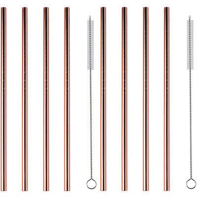 8x Kupfer Strohhalme Edelstahl / Metall | Trinkhalme wiederverwendbar >> ANGEBOT
