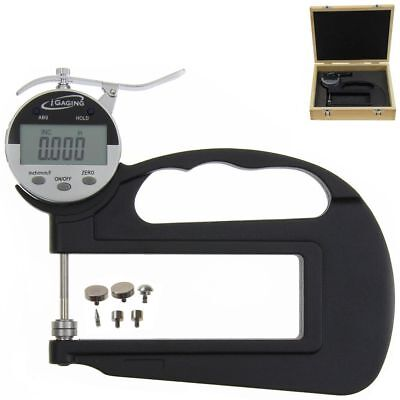 Igaging Digital Thickness Gauge Deep Throat With 6 Anvils Electronic 10.0005