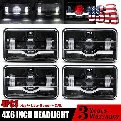 "Red Demon 4""x6"" LED Headlights Semi Sealed Headlamp Conversion Halogen HID Xenon"