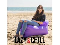 INFLATABLE POD CHAIR With BACK - Good For Travel, Beach, Holiday, Pool, Garden, Camping, Skiing