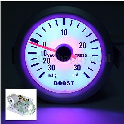 2'' 52mm Digital LED 30 PSI Turbo Boost Gauge Meter Vacuum Press Car Auto Motor