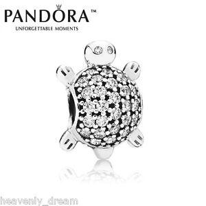 New Genuine Pandora Silver Cubic Zirconia Sea Turtle Charm 791538CZ