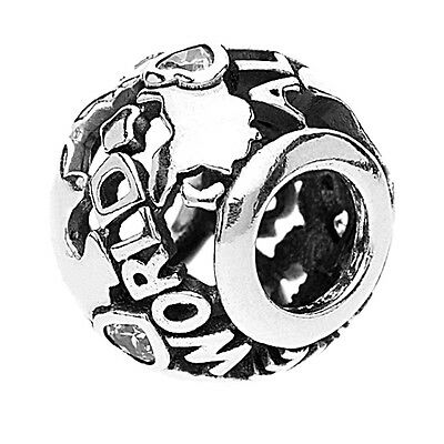 Authentic Pandora Charm  Sterling Silver 791718Cz Around The World Bead
