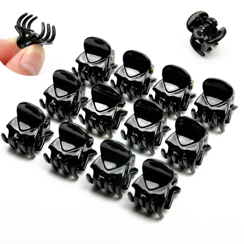 12 Pcs Black Plastic Mini Hairpin 6 Claws Hair Clip Clamp fo